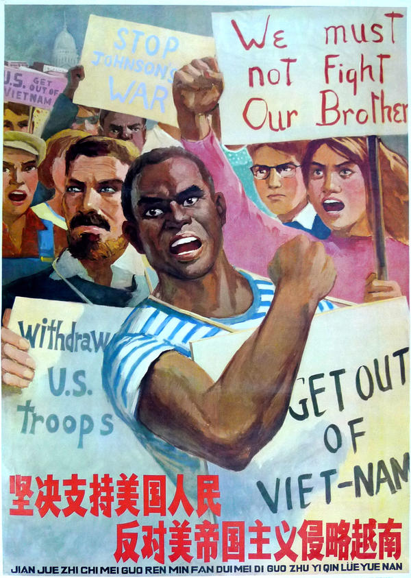"""Firmly support U.S. people against U.S. imperialism invading Vietnam."" 1966"