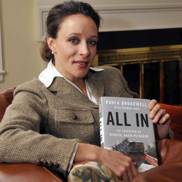 Paula Broadwell, with her book about David Petraeus.