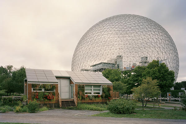 The Montreal Biosphere is the former United States pavilion from the 1967 expo.