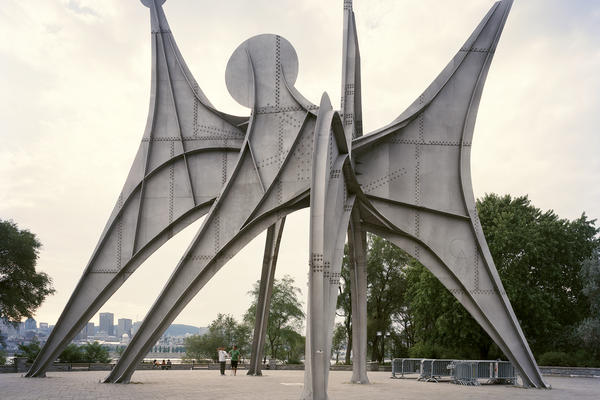 "<em>Man</em> is a sculpture by Alexander Calder, who was most well-known for his <a href=""http://artobserved.com/artimages/2008/07/calder_jpg.jpg"">kinetic sculptures and mobiles</a>."