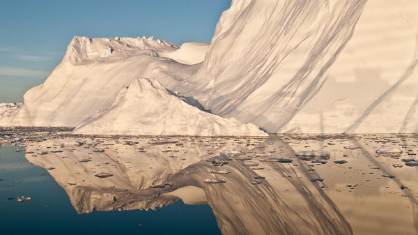 An iceberg that likely calved from Jakobshavn Isbrae, the fastest glacier in western Greenland.