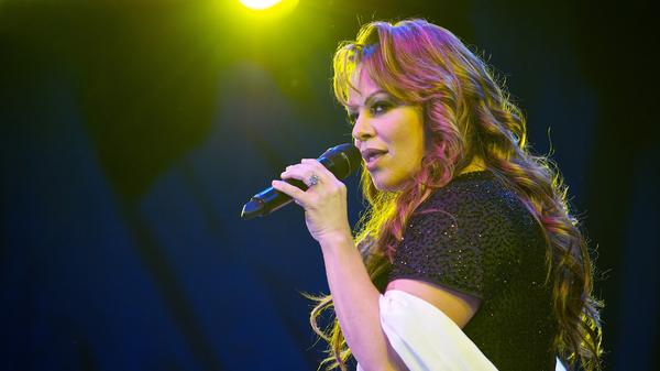 Jenni Rivera performs at the Lilith Fair in 2010 in San Diego.