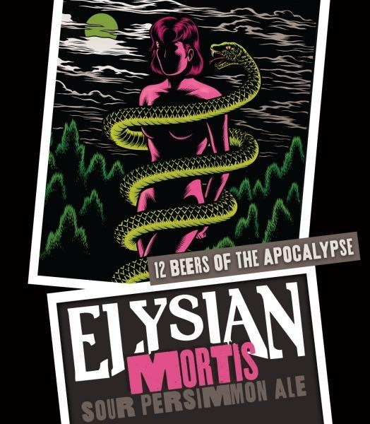 "Elysian released its Mortis Sour Persimmon Ale in November as part of its Twelve Beers of the Apocalypse. The label artwork features imagery from comic artist <a href=""http://www.fantagraphics.com/browse-shop/charles-burns-4.html?vmcchk=1"">Charles Burns</a>' ""Black Hole"" series."