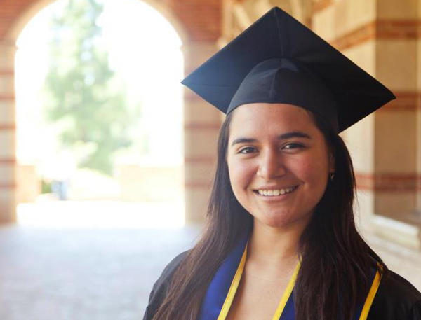 Sofia Campos, 23, is the head of the United We Dream campaign — a national network of youth-led immigrant organizations. Campos was born in Peru, but grew up in California, entirely unaware of her undocumented status until she tried applying for college scholarships.