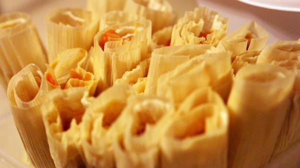 Ofelio makes tamales in his home, Dec. 20.