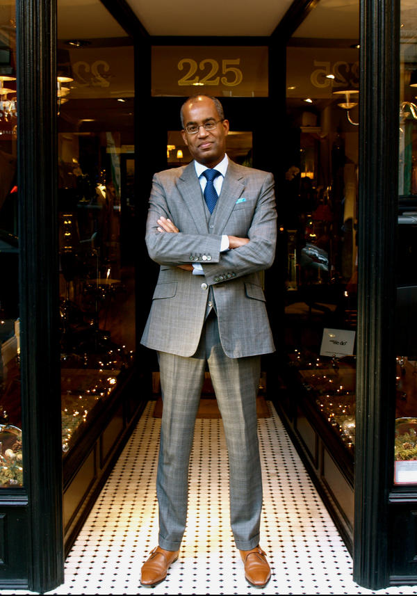 Republican strategist Ron Christie wears a tailored three-piece suit from Lord Willy's in New York City. He says the style is bespoke British with irreverent flair. And when Christie isn't dressed for business, he turns to casual Lucky Brand jeans and a sweater.