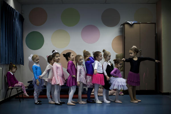 Children of immigrants from the former Soviet Union attend a ballet class in Lod, central Israel. Some prominent ballet dancers left the former Soviet Union for Israel, forming ballet schools and continuing a dance culture highly regarded in their countries of origin.