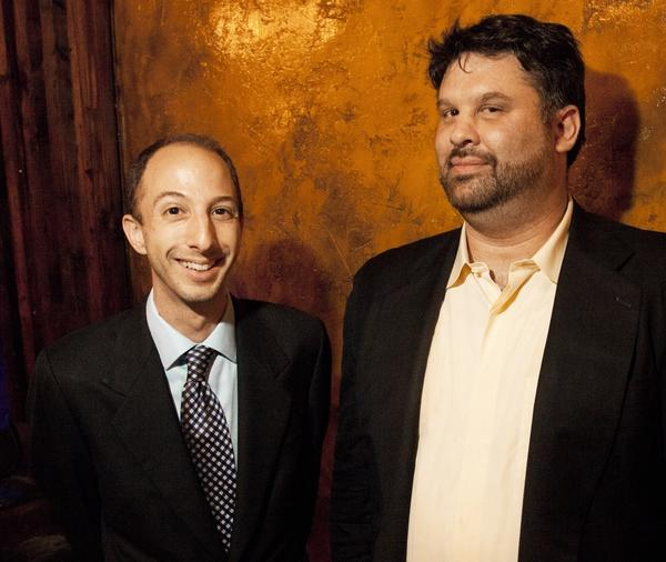 Ben Blacker (left) and Ben Acker are the co-creators of <em>The Thrilling Adventure Hour</em>. They first met while waiting in line at college.