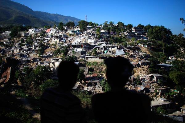 A neighborhood near downtown Port-au-Prince, Haiti, Jan. 15, 2010.