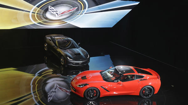 The newly redesigned Corvette Stingray is unveiled by General Motors in a formal industrial complex Sunday.