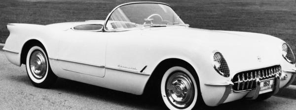 The first-generation Corvette was introduced in 1953, shown here. This year marks the brand's 60th birthday.