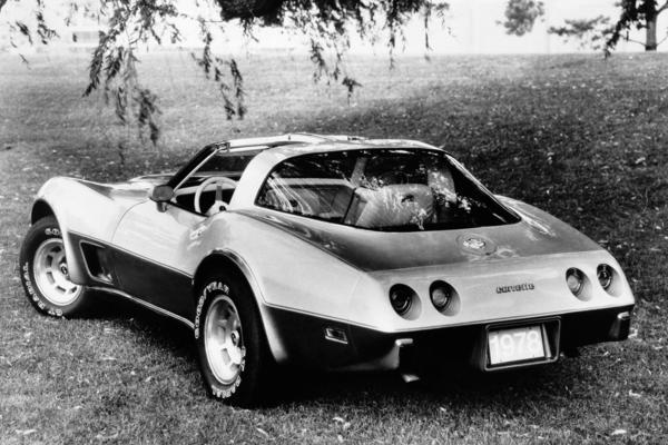 The 1977 Corvette.