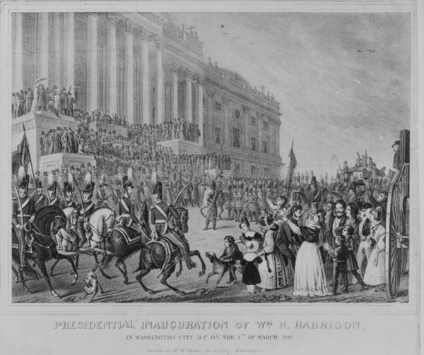 March 4, 1841: William H. Harrison, the first president to arrive in Washington by train, delivered the longest inaugural address in history. He delivered a 90-minute speech in a snowstorm. The 68-year-old died from pneumonia about a month later.