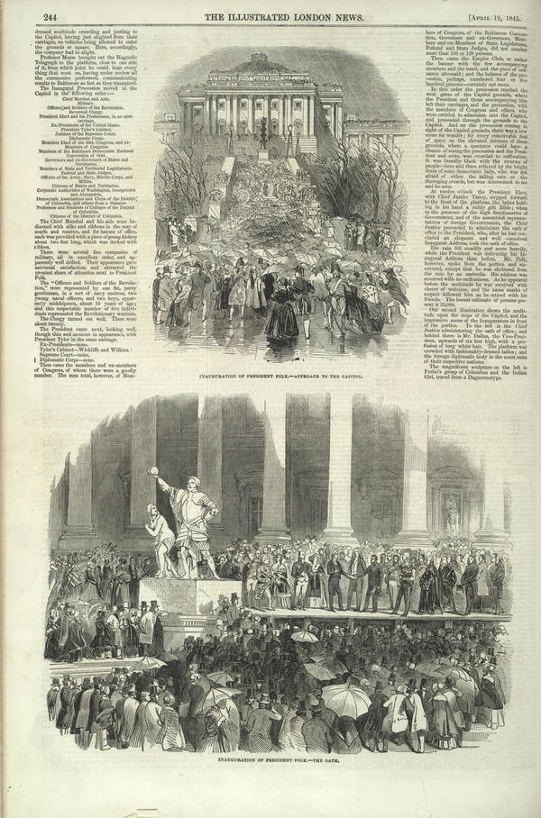 Polk's was also the first known inauguration to be depicted by newspaper illustration.