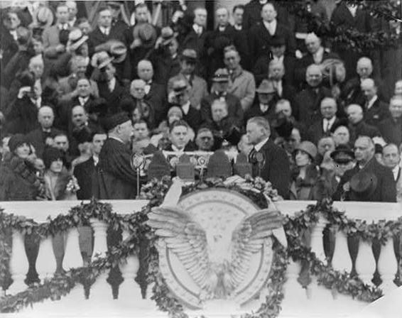 March 4, 1929: Herbert Hoover's inauguration was the first to be recorded by a talking newsreel.