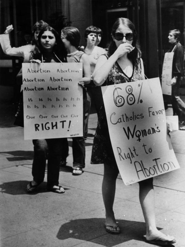 The Catholic Church put a priority on keeping abortions illegal, helping support the formation of the original National Right to Life Committee in 1969. But as this abortion-rights campaigner noted in 1973, a majority of Catholics at the time believed the abortion decision should be left to a woman and her doctor.