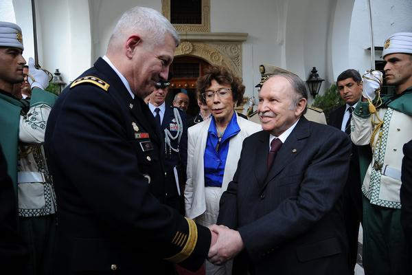 Gen. Carter Ham, who heads the U.S. Africa Command, meets with Algerian President Abdelaziz Bouteflika last September. Amid upheaval in the region, AFRICOM is still attempting to define its mission.