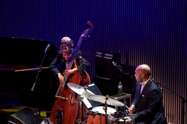 "<p>Accompanied by drummer Eric Harland, Esperanza Spalding essayed her take on ""Look No Further.""</p><p></p>"