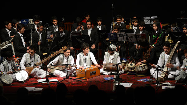 Afghanistan's youth orchestra performs in Kabul on Jan. 31. The orchestra is coming to the U.S. and will appear at Carnegie Hall and the Kennedy Center.