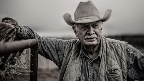 "A still from the Super Bowl ad, ""God Made a Farmer"""