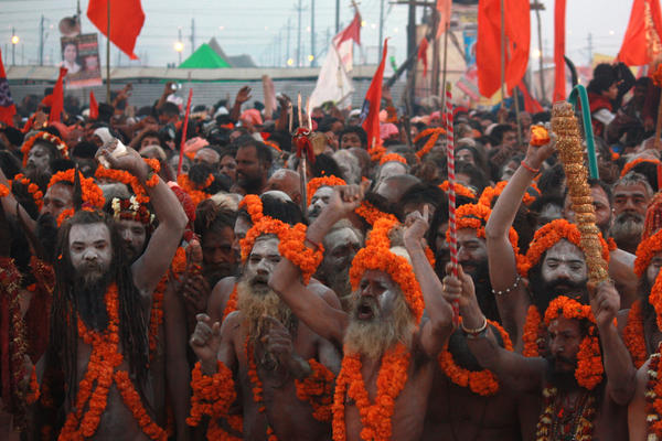 The Kumbh Mela is one of the rare times that <em>sadhu nagas </em>make themselves known. Many of these ascetics live in forests and villages, and have little contact with ordinary Indians. Their population is dwindling, as young devotees prefer not to pursue a life of deprivation.