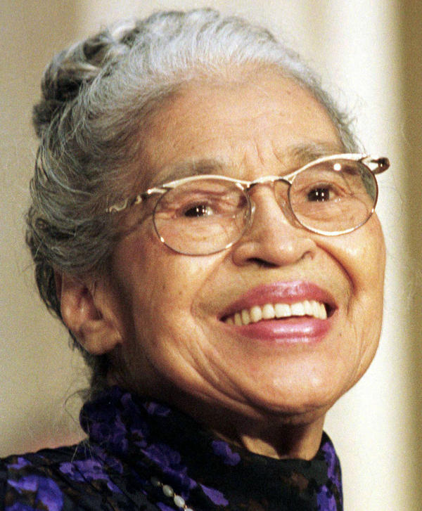 Rosa Parks in June 1999, when she was presented with a Congressional Gold Medal.