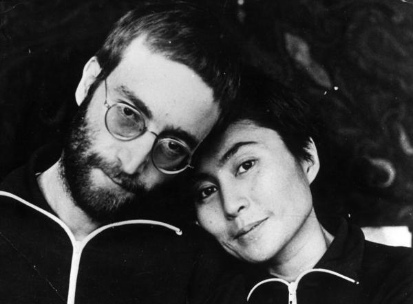 John Lennon and his wife, Yoko Ono, pictured above in January 1970, are the subjects of Jonathan Cott's new book <em>Days That I'll Remember</em>. Cott met Lennon in 1968 and was friends with the couple.