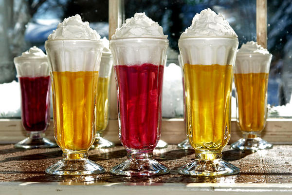 Syllabub, a dessert drink traditionally made from cream, sugar, and wine.