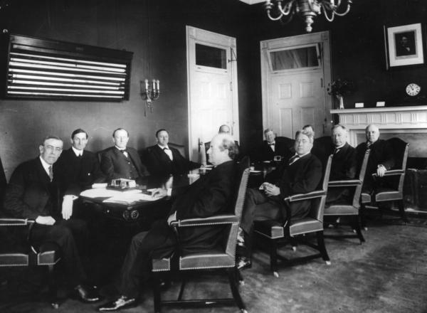 President Woodrow Wilson Meets With His First Cabinet, Circa 1912. Should  Cabinets Have A