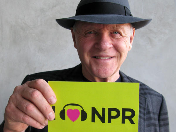 Anthony Hopkins takes on the role of legendary filmmaker Alfred Hitchcock in <em>Hitchcock</em>, nominated for makeup and hairstyling. The actor talked to NPR Host Scott Simon on <em>Weekend Edition</em> last year, and couldn't leave without sharing the love.
