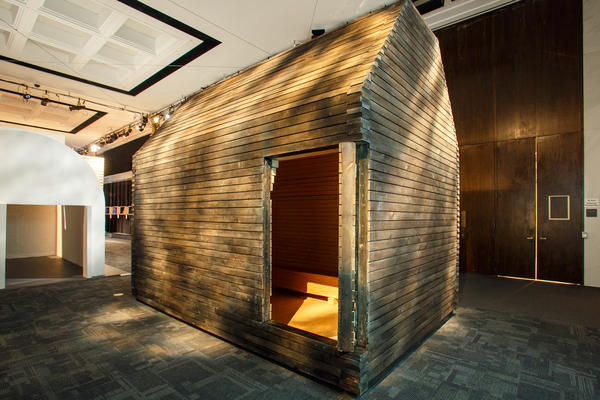 <p>The Five Nordic Houses exhibit displays homes commissioned by Denmark's Louisiana Museum of Modern Art. Five architects were commissioned to build small homes that suit the style and needs of their home country, including this house by the Finnish firm Lassila Hirvilammi.</p><p></p>