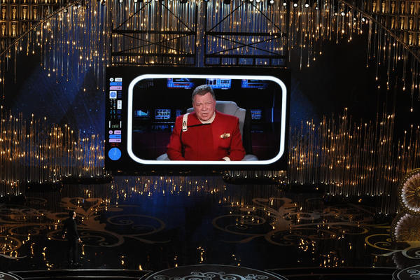"William Shatner makes a cameo appearance as Captain Kirk from ""Star Trek"" during the opening ceremony."