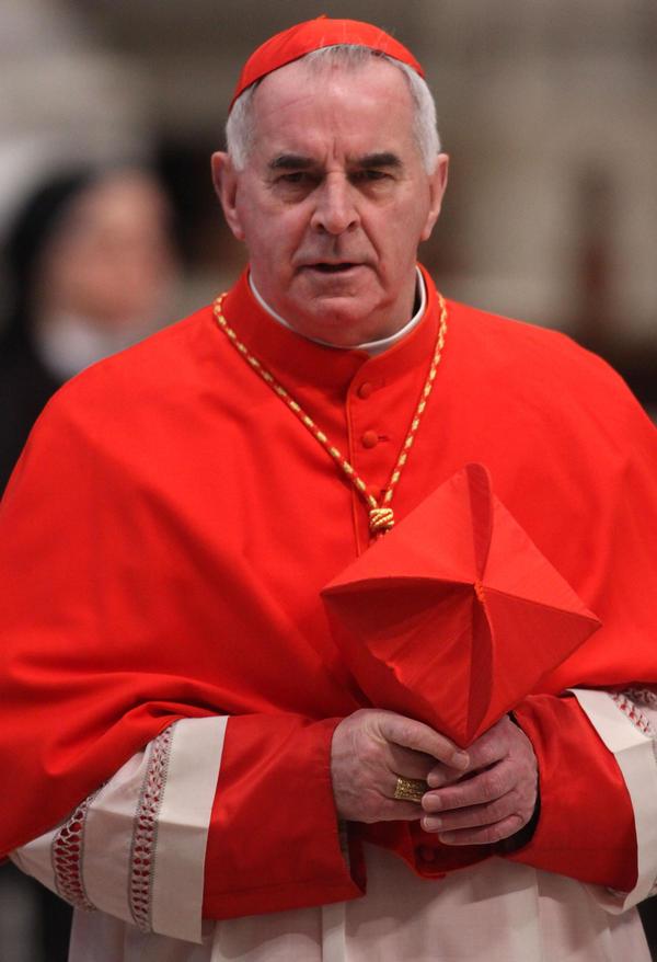 Then-Cardinal Keith O'Brien, archbishop of Saint Andrews and Edinburgh, at St. Peter's Basilica in Vatican City last week.
