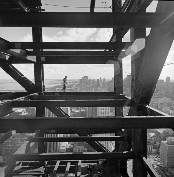 <em>John Hancock Chicago construction, Skidmore, Owings & Merrill, Chicago, Ill.,</em> 1970