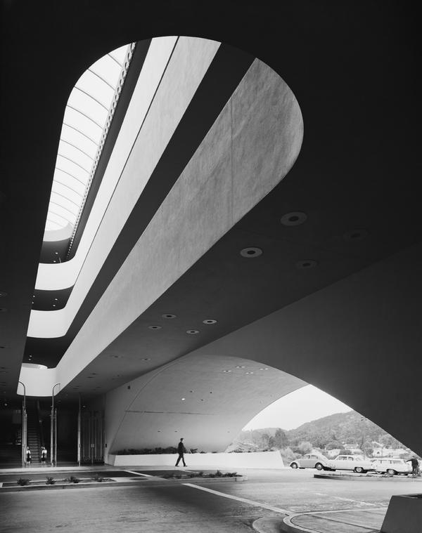 <em>Marin County Civic Center, Frank Lloyd Wright, San Rafael, Calif.,</em> 1963