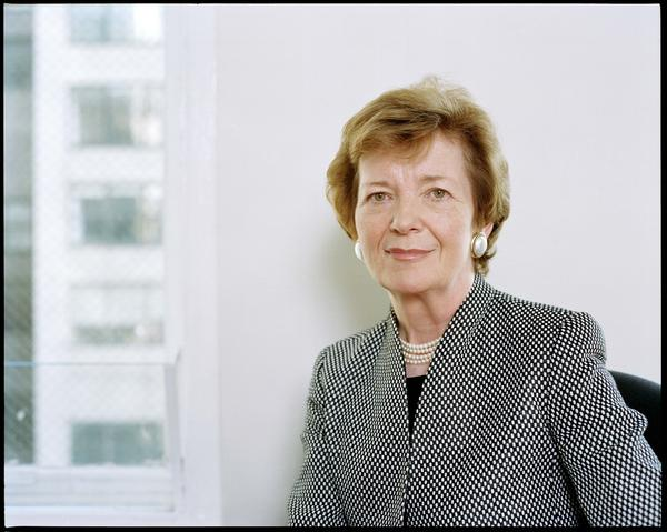 Mary Robinson was Ireland's first female president. A former United Nations High Commissioner and activist lawyer, she has advocated for human rights around the world.