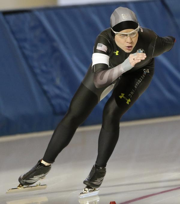 Speedskater Bridie Farrell competing last Friday in Kearns, Utah. Now 31, she says she was 15 when a much older teammate began sexually abusing her.