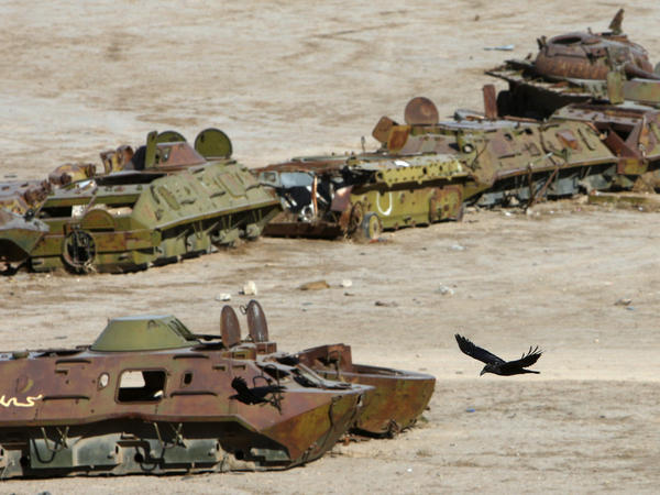 Destroyed Soviet tanks and armored vehicles in Afghanistan, a grim legacy of Moscow's decade-long occupation that began in 1979.