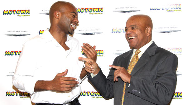 Actor Brandon Victor Dixon (left) plays legendary Motown Records founder Berry Gordy in Broadway's upcoming <em>Motown: The Musical</em>. Previews for the show start March 11.