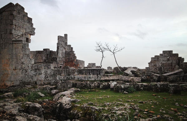 "The Syrian ""Dead City"" of Shanshrah, in northern Idlib province. A U.N. World Heritage site, the Dead Cities of northern Syria date back to the first to fifth centuries."