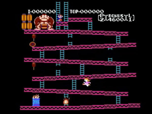 A screenshot shows game designer Mike Mika's <em>Donkey Kong: Pauline Edition</em> he created for his daughter show she could play as a female hero.