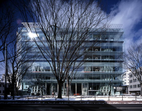 The Sendai Mediatheque is a cutting-edge public library in Japan. The building is a transparent cube composed of tubes and platforms.