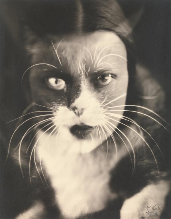 <em>Io + gatto (Cat + I)</em>, 1932 (Wanda Wulz)