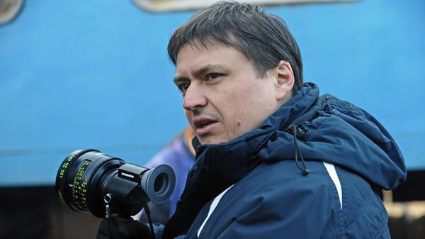 Director Cristian Mungiu on the set of his new film, <em>Beyond the Hills</em>. As in his earlier <em>4 Months, 3 Weeks and 2 Days</em>, the filmmaker focuses on two young women adrift in the post-Soviet wilderness of Romania.