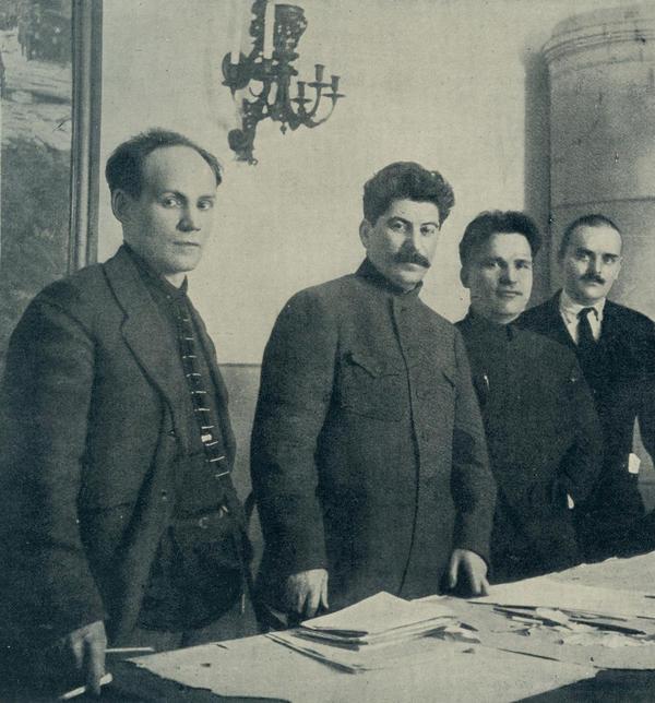 <em>Nikolai Antipov, Joseph Stalin, Sergey Kirov and Nikolay Shvernik</em>, 1926