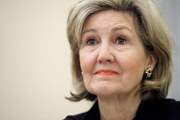 """""""I think it's been very helpful to have more women in the process, even when I disagree with them on philosophy,"""" says former Sen. Kay Bailey Hutchison, R-Texas."""