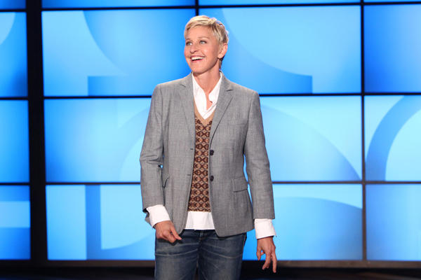 Ellen DeGeneres during a taping of <em>The Ellen DeGeneres Show</em> in 2011 in Burbank, Calif.