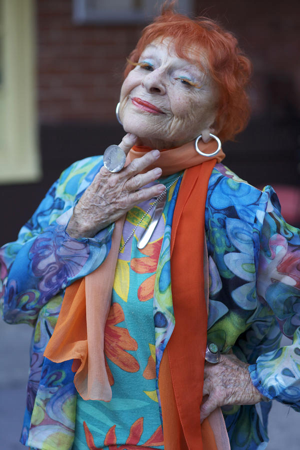 Ilona Royce Smithkin, 93, cut her red hair to make her eyelashes.