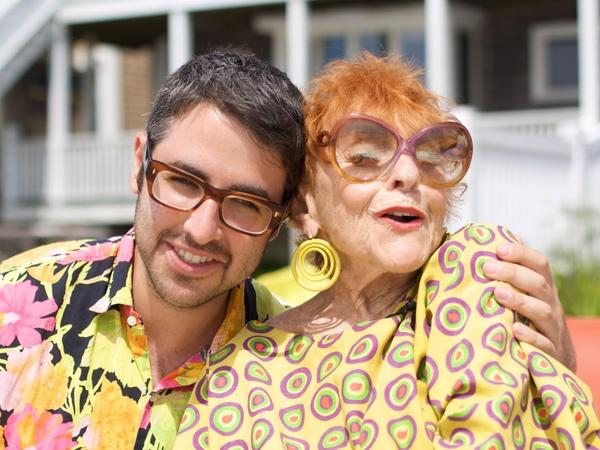 Blogger Ari Seth Cohen with Ilona Royce Smithkin, 93, one of his most famous subjects.
