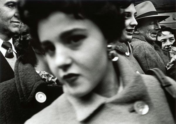 <em>Big face in crowd,</em> New York, 1955